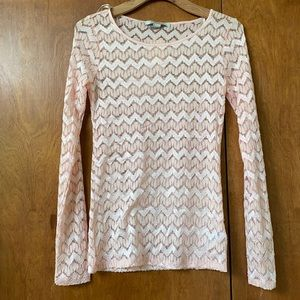 NWT Pink and Gold Lace shirt